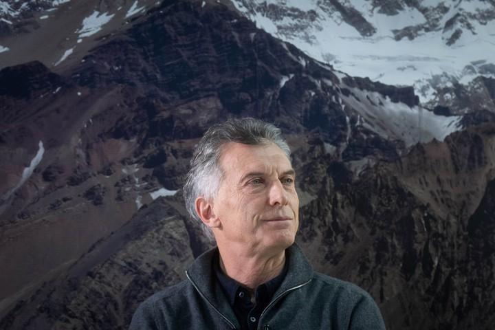 Former President Mauricio Macri gave interviews in Mendoza newspapers.  Photo: Ignacio Blanco / Los Andes
