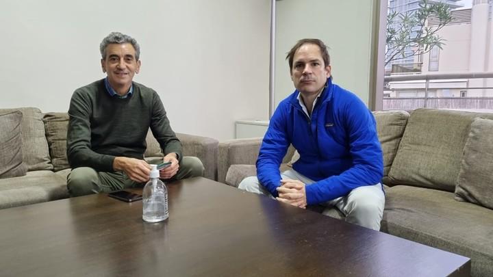 Florencio Randazzo with economist Carlos Hourbeigt, leader of Roberto Lavagna