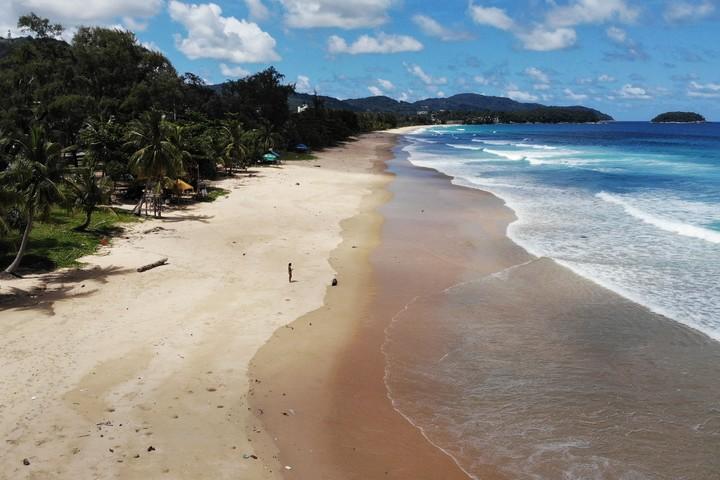 Karon Beach in Phuket.  Photo Lillian SUWANRUMPHA / AFP