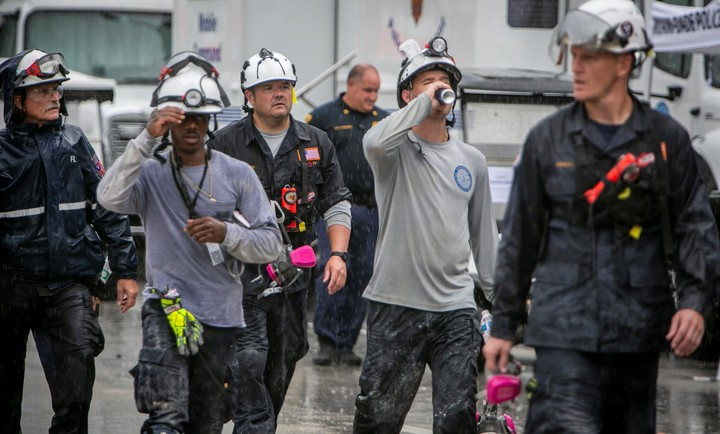 Rescuers continue to work around the clock searching for survivors.  Photo: AP: