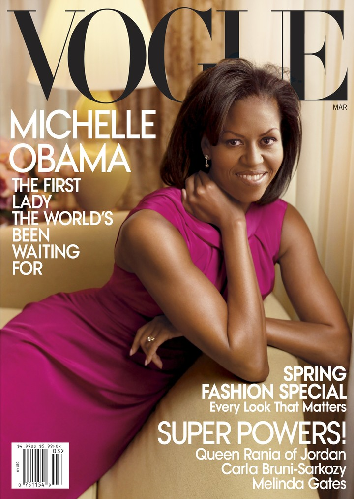 Another cover of MIchelle Obama.  Photo AP Photo / Annie Leibovitz / Vogue.