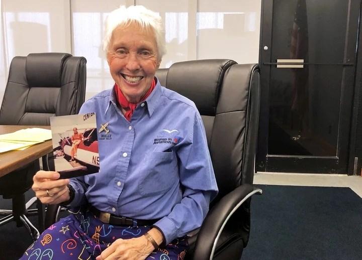 Wally Funk, he already had his flight ticket to travel on Virgin Galactic.  Bezos stepped forward.  Reuters photo