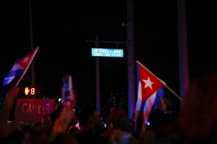 Cuban protests in the state of Florida, United States - Photo REUTERS
