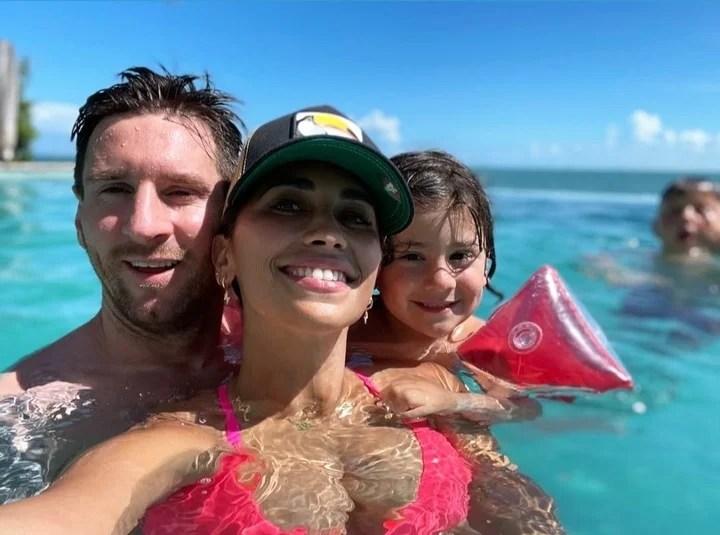 Lionel Messi y su familia, de vacaciones en Miami tras ganar la Copa América con la Selección Argentina. Foto IG antonelaroccuzzo