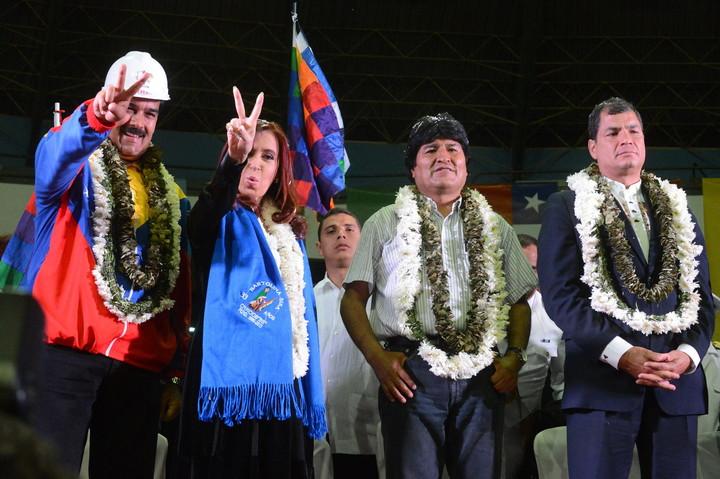 Serrano Mancilla went from Maduro, Evo and Correa to Cristina and Alberto.