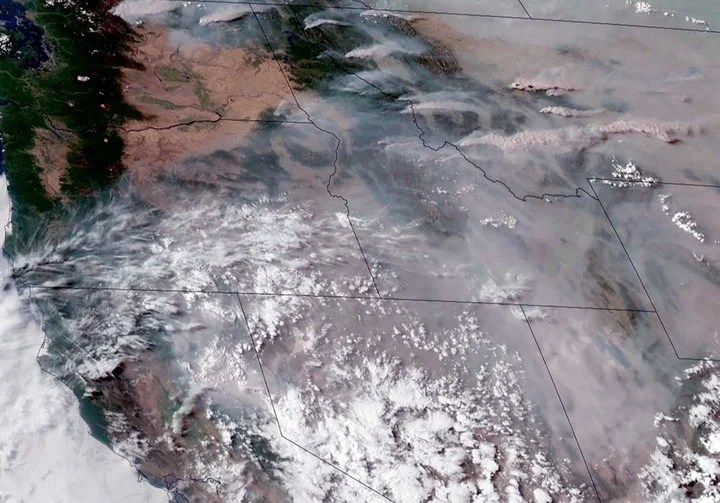 Smoke seen from space.  Photo: AFP