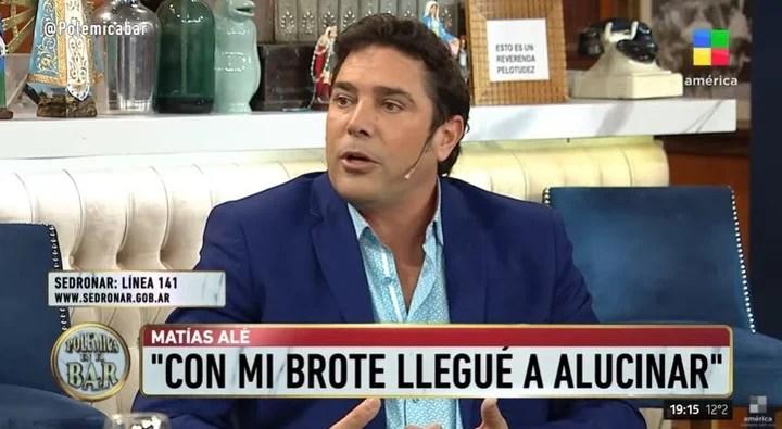 Matías Alé said that he had hallucinations during his psychiatric outbreak.  Capture TV