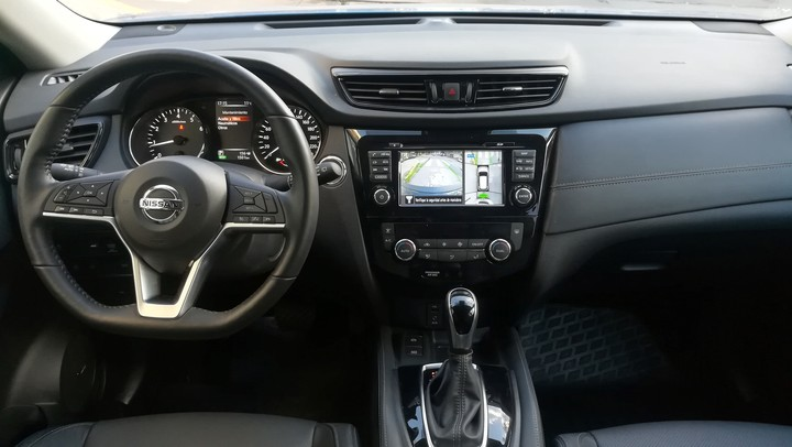 """They changed the steering wheel and the gear selector.  The screen is still the same 7 touch""""."""
