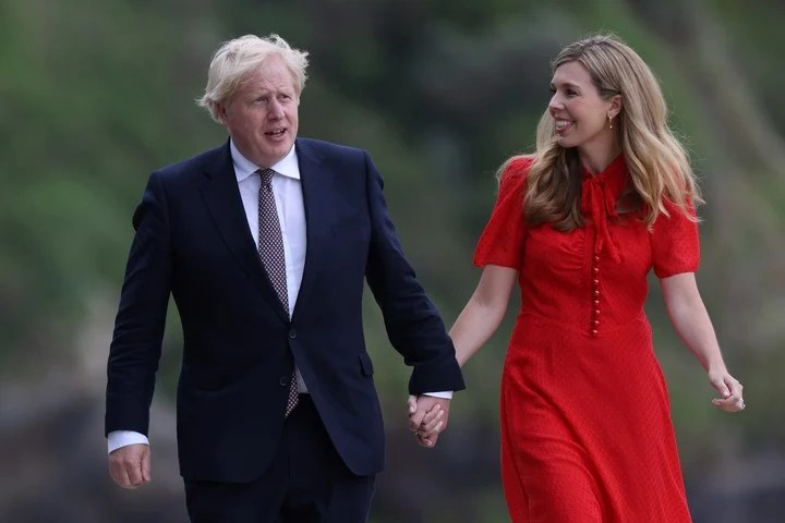 Boris Johnson and Carrie will be parents again at the official residence of Downing St. Photo: BLOOMBERG