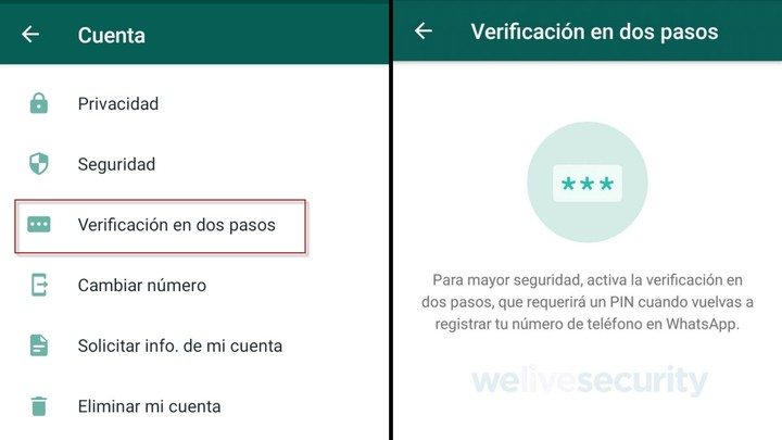 When enabling two-step verification, WhatsApp will request a six-digit PIN.