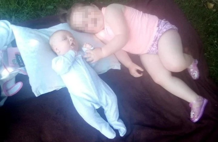 Liam O'Keefe, the baby killed by his mother, and his older sister, seriously injured.