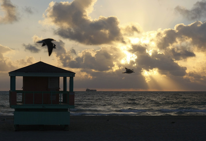 Miami, one of the destinations with the most flights.  Photo Joe Raedle / Getty Images / AFP