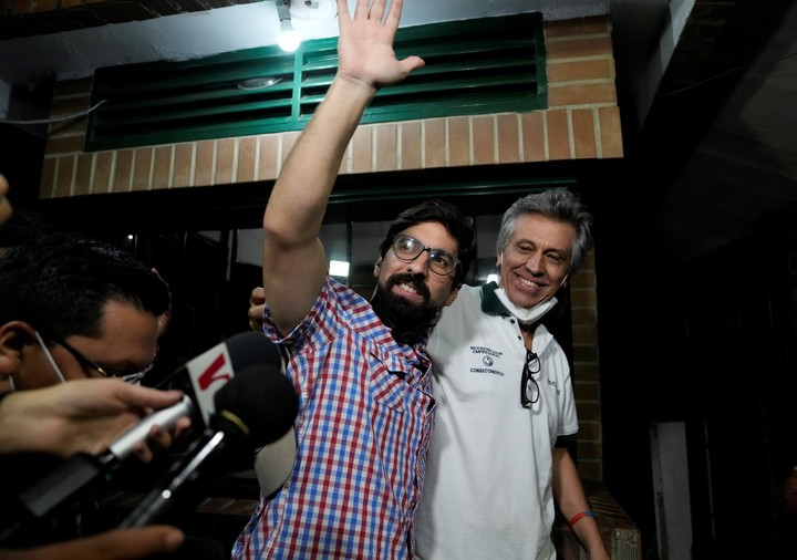 Freddy Guevara, upon being released.  AP Photo