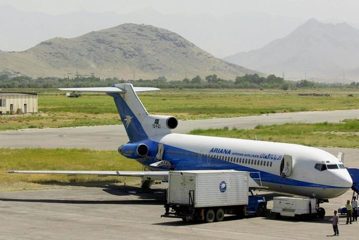An airplane at Kabul airport.  AP Photo