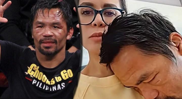La esposa de Many Pacquiao, atenta a la salud de su marido tras la pelea con Yordenis Ugás.
