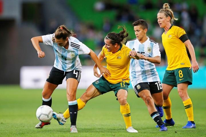 De Vanna, durante un partido ante Argentina por la Copa de las Naciones 2019. Foto EFE/ Daniel Pockett