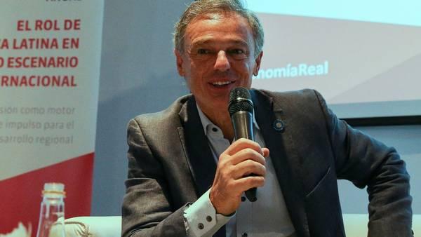 El ministro Cabrera, ayer, durante un encuentro de la consultora ABECEB (EFE).
