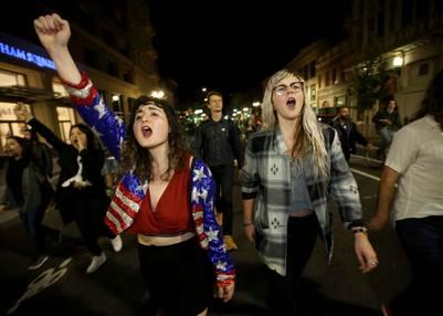 Hubo protestas e incendios por el triunfo de Donald Trump | AP