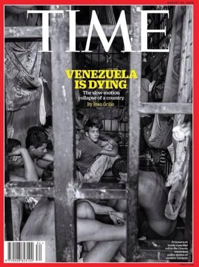 La tapa de la revista Time sobre Venezuela./ Captura de pantalla
