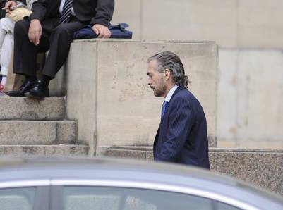 El camarista Gustavo Hornos ingresa a los Tribunales de Comodoro Py. /Foto Pedro Lazaro Fernandez