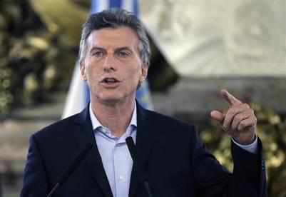 """Mauricio Macri habla en Casa Rosada sobre transparencia, los """"Panamá Papers"""" y un fideicomiso que administrará su patrimonio. (AFP / JUAN MABROMATA)"""