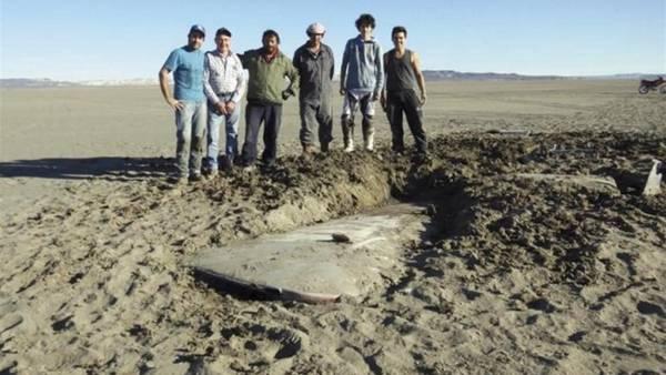 Los restos del avión encontrados hoy en Chubut. / Rionegro.com.ar