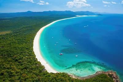 La playa Whitehaven es un atractivo visual magnífico en Australia (Getty Images).