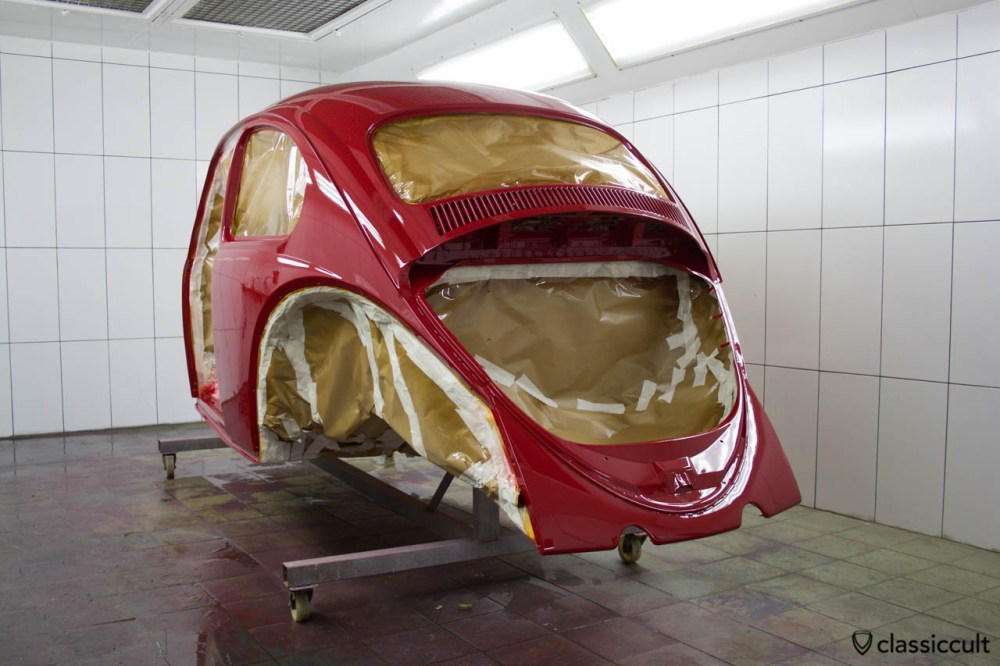 medium resolution of vw beetle restoration body painted in ruby l456