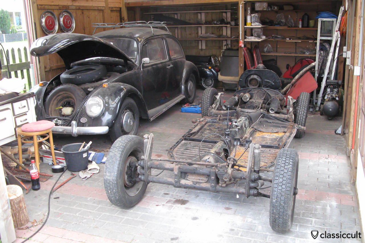 hight resolution of vw beetle body removed from chassis