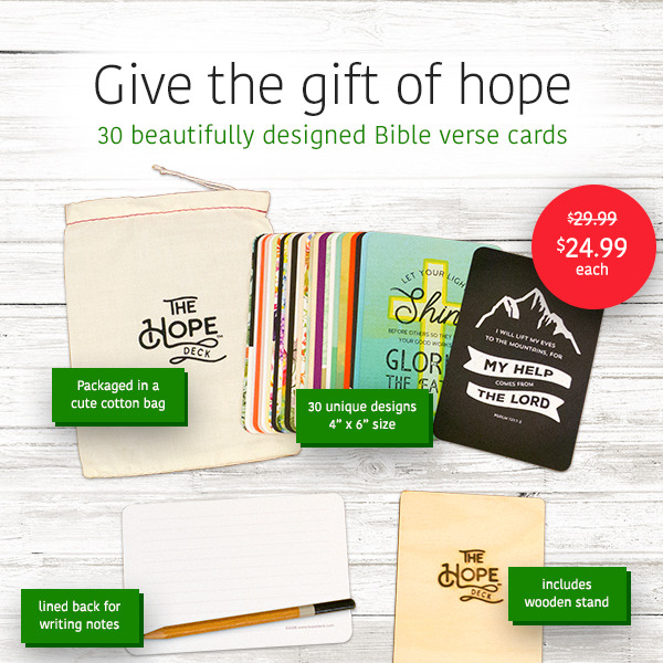Send HOPE - encouragement on a pretty card!