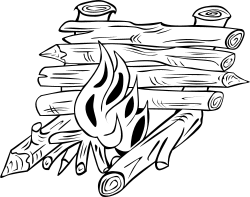 Campfires and cooking cranes clip arts, free clipart