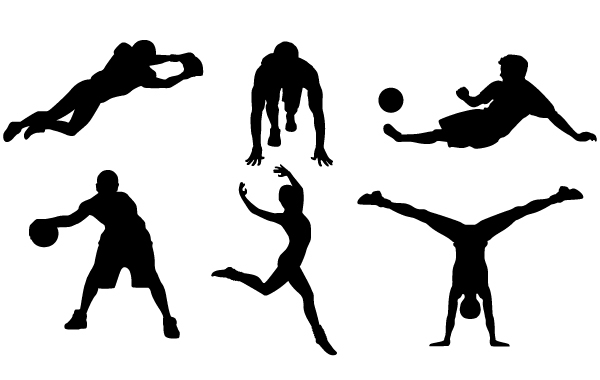 9 Free Sports Vector Silhouettes clip arts, free clipart