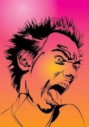 crazy hair cartoon clip art