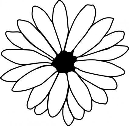 Flower Outline clip art clip arts, free clipart