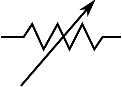 Rsa Iec Variable Resistor Symbol clip art clip arts, free