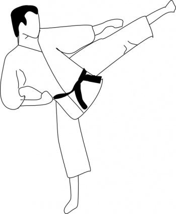 Karate Kick clip art clip arts, free clip art