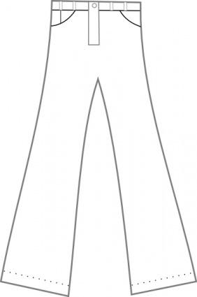 Clothing Pants Outline clip art clip arts, free clipart