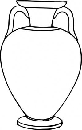 Outline Greek Amphora clip art clip arts, clip art