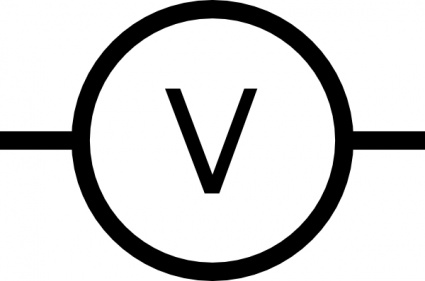 Volt Meter Symbol clip art klip sanatlar, ücretsiz clipart