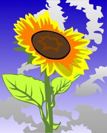 clipart sonnenblumen gegen blauen