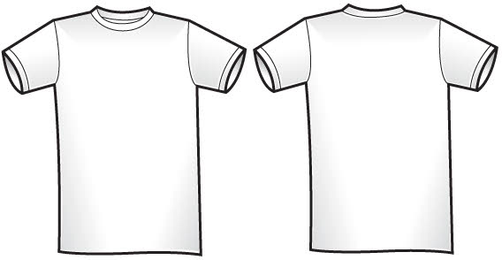 Twosided T-shirt template free vector clip arts, free clip