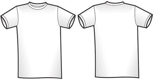 Twosided T-shirt template free vector cliparts, kostenlose