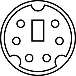 Clipart-Bilder von Mini-DIN Diagramm ClipArt