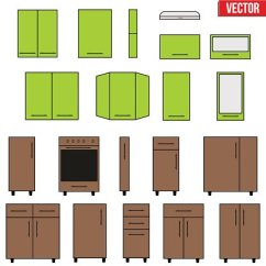 Modular Kitchens Affordable Kitchen Islands 模块化厨房对象集 Premium Clipart Clipartlogo Com