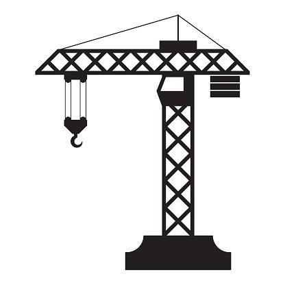 Construction Crane Silhouette premium clipart