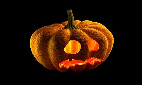 halloween pumpkin with face