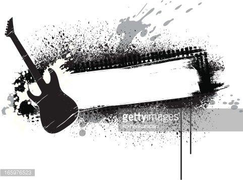 guitar banner premium clipart