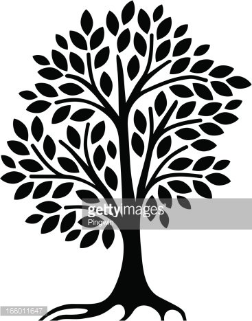 Simple Tree Clipart Black And White : simple, clipart, black, white, Simple, Clipart, +1,566,198