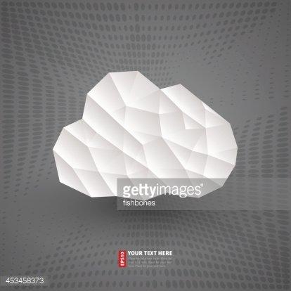 origami cloud premium clipart
