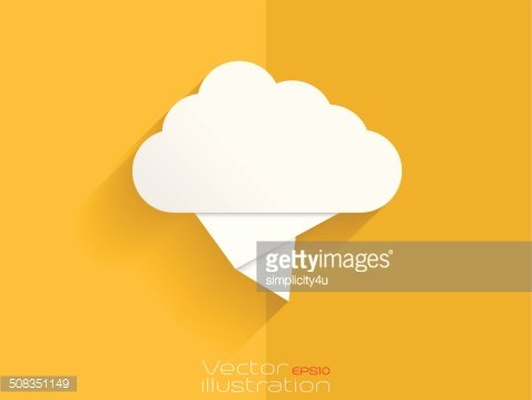 origami cloud on yellow